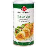 Bread crumbs with Itlalian style seasoning.