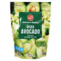 Western Family - Frozen Diced Avocado, 500 Gram