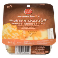Western Family - Marble Cheddar Cheese Slices, 240 Gram