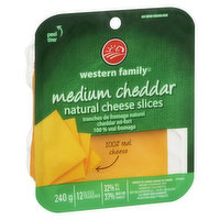 12 slices, Product of Canada, 100% Real Cheese, 32% MF 37% Moisture.