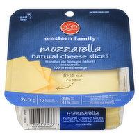 Western Family - Mozzarella Cheese Slices, 240 Gram