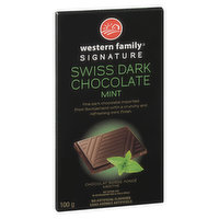 Rich & smooth dark Chocolate imported from Switzerland, with a crunchy & refreshing mint finish. Perfect treat to finish off the day!