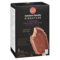 Western Family Signa Western Family Signature - Ice Cream Bars - Caramel Praline Pecans, 4 Each
