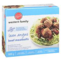 Western Family Western Family - Meatballs Lean Angus, 800 Gram