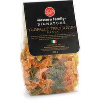 Western Family Signa Western Family Signature - Pasta - Farfalle Tricolor, 454 Gram
