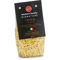 "Pronounced ""tro-fee-ay"". We use only the finest durum semolina flour which gives our pasta a rich texture & flavor. Product of Italy. No artificial colors of flavors."