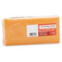 Aged cheddar cheese. Great in sandwiches, sprinkled on salads & soups & more! 31% M.F & 39% moisture.