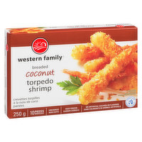 10 pieces of Ocean Wise shrimp coated in coconut. No artificial colors or flavors. Uncooked & keep frozen.