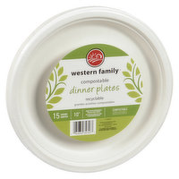 Perfect for get together's. Sturdy 10 inch dinner plates. Compostable, made with renewable sugar cane fibres.