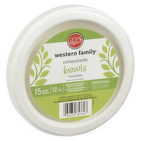 Western Family - Compostable Bowls 12 Oz - 15 Count