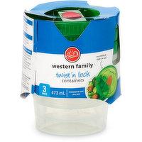 Western Family Western Family - WF Twist N Lock, 3 Each