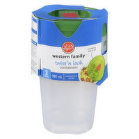 Western Family Western Family - WF Twist & Lock Container, 991 Millilitre