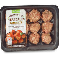 Fresh artisan meatballs. Ready to cook. No artificial colours or flavours.
