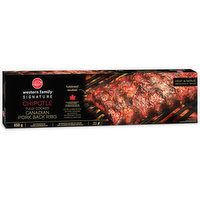 Western Family - Signature Pork Ribs - Chipotle Fully Cooked Canadian Pork Back Ribs, 650 Gram