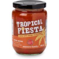 Western Family - Tropical Fiesta Salsa - Medium, 340 Millilitre