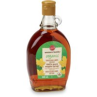 Western Family Western Family - 100% Pure Organic Maple Syrup - Amber, 500 Millilitre