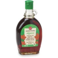 Western Family - Organic Maple Syrup - 100% Pure Dark, 500 Millilitre