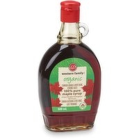Western Family - 100% Pure Organic Maple Syrup - Very Dark, 500 Millilitre