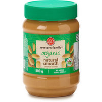Western Family Western Family - Peanut Butter - Organic Natural Smooth, 500 Gram