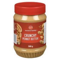 Western Family - Peanut Butter - Crunchy, 500 Gram