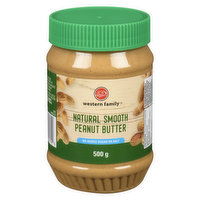 Western Family - Peanut Butter - Natural Smooth, 500 Gram