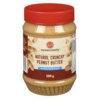 Western Family - Peanut Butter - Natural Crunchy, 500 Gram