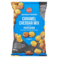 Flavoured with caramel & cheddar, with a sweet & savoury taste. No artificial colours or flavours. Gluten and peanut free