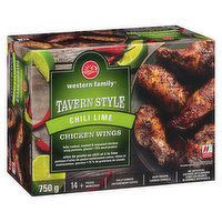 Western Family - Tavern Style Chicken Wings - Chili Lime, 750 Gram