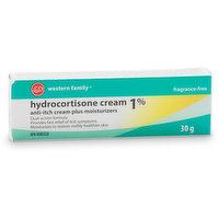Western Family - Hydrocortisone 1% Anti-Itch Cream Plus Moisturizers