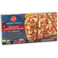 Western Family - Pepperoni, Mushroom & Bacon Flatbread, 370 Gram