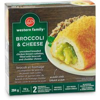 Frozen. Filled with broccoli and cheddar cheese. 2 individually wrapped entrees. Uncooked. No artificial colours or flavours.
