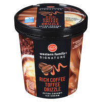 Western Family - Coffee Toffee Drizzle Ice Cream, 500 Millilitre