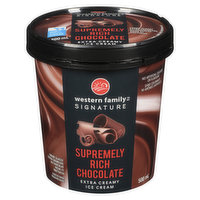 Western Family - Rich Chocolate Ice Cream, 500 Millilitre