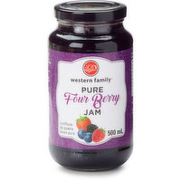 Western Family - Four Berry Jam, 500 Millilitre