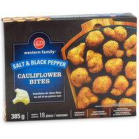 Western Family - Salt & Black Pepper Cauliflower Bites, 385 Gram