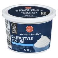 Western Family - Greek Style Yogurt Plain 9% MF, 500 Gram