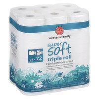 Western Family - Super Soft Triple Roll Bath Tissue, 2-ply