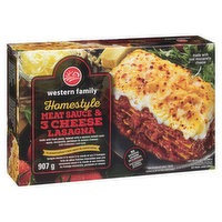 Western Family - Homestyle Meat & 3 Cheese Lasagna, 907 Gram