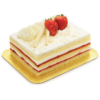 Three Scrumptious Layers of Delicious Shortcake are Decorated with Thick, Dairy Fresh Whipping Cream and Strawberry Preserve. 1.4Kg Cake.