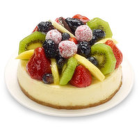 New York Cheesecake on Graham Cracker Crust with Fruit Toppings. Truly Delicious Dessert.