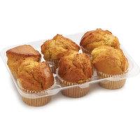 Bake Shop - Muffins - Oatmeal Apricot, 6 Each