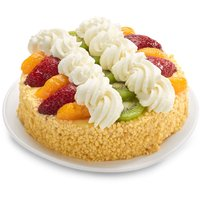 6 Inch Gourmet Sponge Cake with Fruit Topping and  Whip Cream.