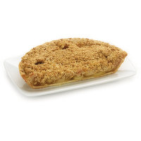 Baked in store. This flaky crust is filled with fresh apple slices, cinnamon, and sugar then topped with premium oat and brown sugar crumble, a sweet and delicious crunch.