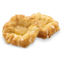4pk. Baked in store.This high quality apple crown danish is made with a crisp, flaky pastry and filling that tastes like real apple because thats precisely what theyre made from. No fruit concentrates, preservatives, or artificial flavour.