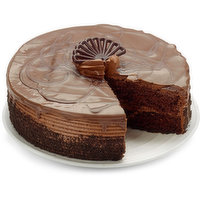 A moist chocolate cake with chocolate truffle filling!