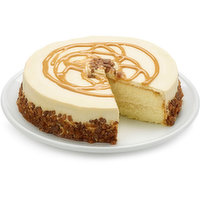 A moist cake, filled with creamy caramel sauce!