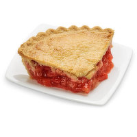 Baked in store.Made with ripe, juicy strawberries and tangy rhubarb, the perfect balance of sweet and tart.