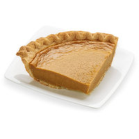 Baked in store. This traditional pumpkin pie combines smooth, creamy pumpkin filling with a flaky, made-from-scratch crust that will be the centerpiece for your next celebration. Perfectly blended real pumpkin, eggs, brown sugar, and spices for a fresh, h