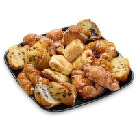 48 hour Prep Time Required for Party Platters. Limit 10 per Order.A Variety of Muffins, Strudels, Danish, Scones, Chocolate Croissants & Mini Croissants. Serves 10-14<br />