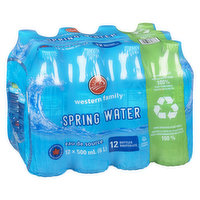 Western Family - Spring Water, 12 Each